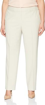 Nine West Women's Size Plus BI Stretch Crepe Trouser Pant