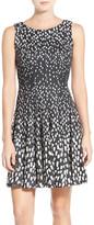 Eliza J Scuba Fit & Flare Dress