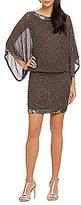 J Kara Kimono Sleeve Blouson Dress