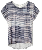 Vince Camuto Two by Printed Mixed-Media Tee