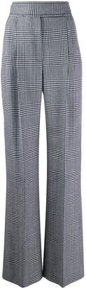 Alexander McQueen Check High-Waisted Trousers