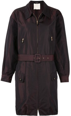 Chanel Pre-Owned 1980s belted zip-up coat
