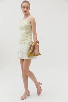 Elliatt Angel Lace Drop Waist Mini Dress