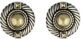 David Yurman Two-Tone Circular Earrings