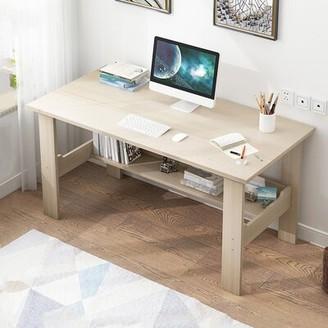 """Inbox Zero Home Bedroom Laptop Study Office Desk Color: White, Size: 28.3"""" H x 39.4"""" W x 23.6"""" D"""