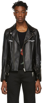 Undercover Black Leather Dead Hermits Jacket
