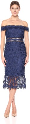Aidan Mattox Women's Off The Shoulder lace Dress