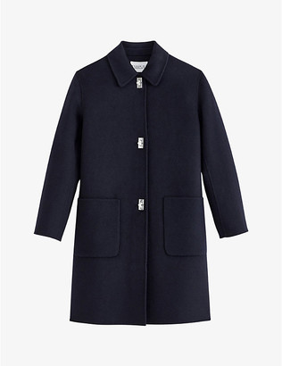 Claudie Pierlot Twist-lock button wool-blend coat