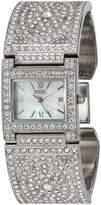 Badgley Mischka Women's Quartz Metal and Alloy Dress Watch, Color:-Toned (Model: BA/1365MPSV)