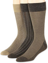 JCPenney Stafford 3-pk. Rayon from Bamboo Crew Socks