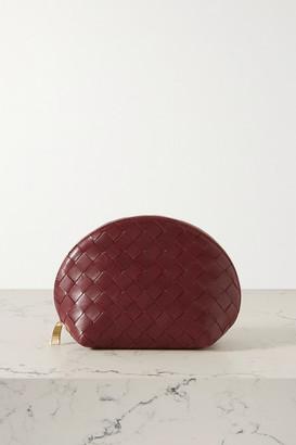 Bottega Veneta Intrecciato Leather Cosmetics Case - Claret