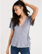 American Eagle AE WRAP FRONT T-SHIRT