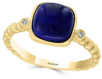 Effy 14K Yellow Gold, Diamond Lapis Cocktail Ring