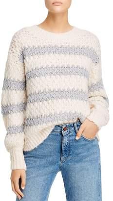 Rebecca Taylor Metallic-Stripe Sweater