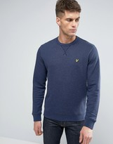 Lyle & Scott Fleck Crew Sweatshirt Eagle Logo in Navy