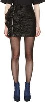 MSGM Black Lace Ruffle Miniskirt