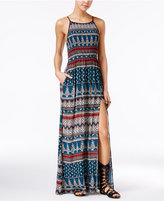 American Rag Printed Side-Slit Maxi Dress, Only at Macy's