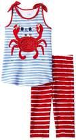 Mud Pie Crab Tunic Capris Set (Infant/Toddler)