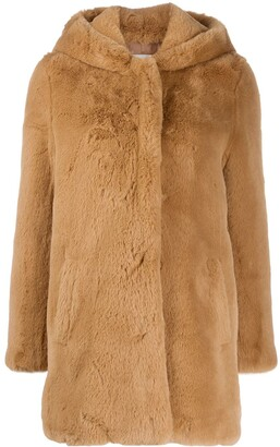 Sandro Honey faux fur coat