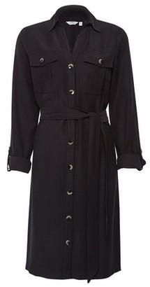 Dorothy Perkins Womens Dp Tall Black Utility Shirt Dress, Black