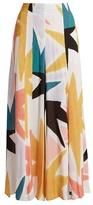 Mara Hoffman Superstar-print crinkled-crepe trousers