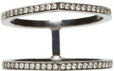 Repossi Black Gold Pavé Diamond Double Antifer Ring