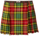 Junior Gaultier Plaid Yellow Skirt Girl's Skirt