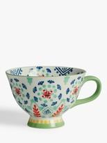 John Lewis & Partners Fusion Bold Mug, 468ml, Green/Multi