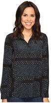 Olive + Oak Olive & Oak Long Sleeve Button Front Bandana Print Pajama Top