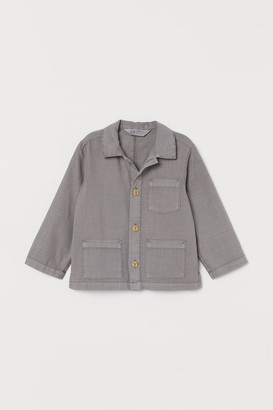 H&M Cotton Shacket - Gray