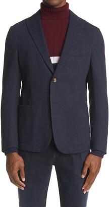 Eleventy Mini Houndstooth Wool & Cotton Sport Coat
