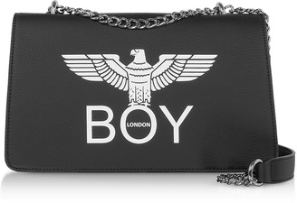 Boy London Black Synthetic Leather Shoulder Bag