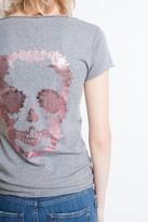 Zadig & Voltaire Mc Print Henley T-Shirt