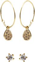 Accessorize 2x Priya Hoop & Stud Earrings Pack