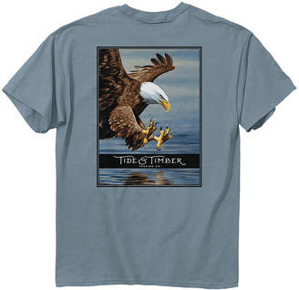 Tide & Timber Men's Tee Shirts ICE - Ice Blue Bald Eagle Tee - Men
