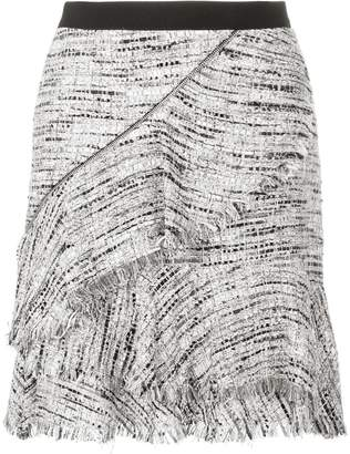 Karl Lagerfeld Paris Boucle Skirt W/Ruffles