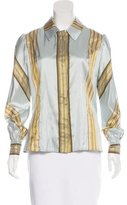 Carolina Herrera Striped Silk Top