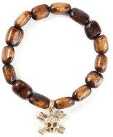 Loree Rodkin gold and diamond skull head bracelet