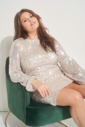 Ardene Plus Size Sequin Mini Dress