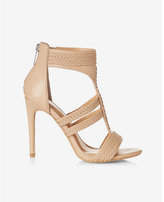 Express braided t-strap heeled sandal
