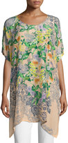 Johnny Was Kiltic Floral-Print Tunic, Plus Size