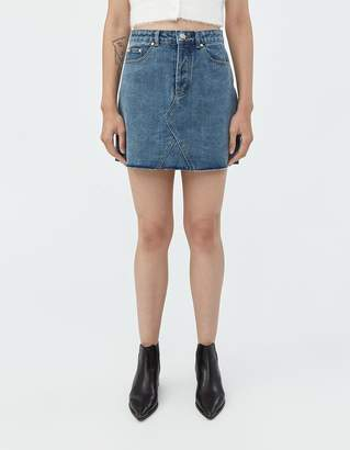 Which We Want Violet Denim Skirt