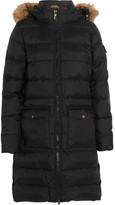 Pyrenex Authentic Faux Fur-trimmed Quilted Shell Down Coat - Black