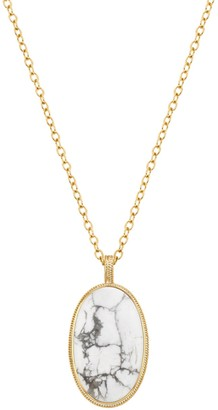 Anna Beck 18K Gold Plated Sterling Silver Howlite Pendant Necklace