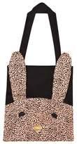 BANG BANG Copenhagen Black Cotton Tote Bag with Rabbit Applique