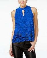 Material Girl Lace Split-Back Tank Top, Only at Macy's