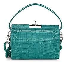 GU DE Women's Small Milky Croc-Embossed Leather Crossbody Bag