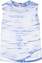 Equipment Reagan printed washed-silk top