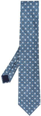 Corneliani Floral-Print Silk Tie