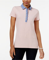 Tommy Hilfiger Felicity Ruffled Polo Top